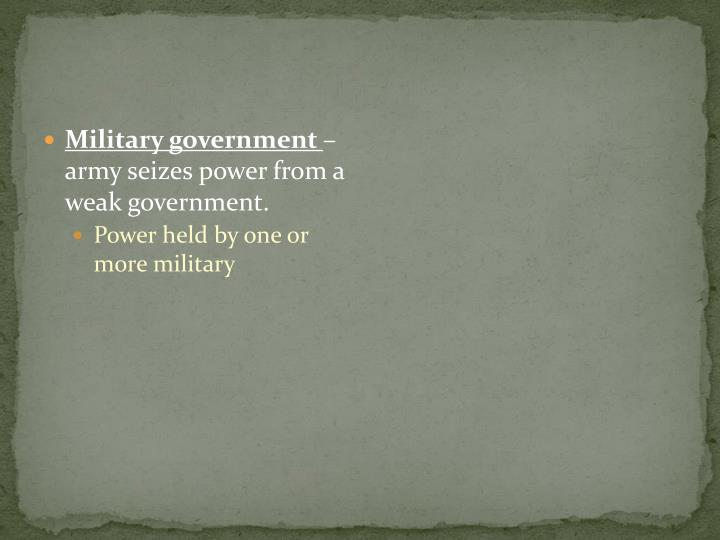Military government