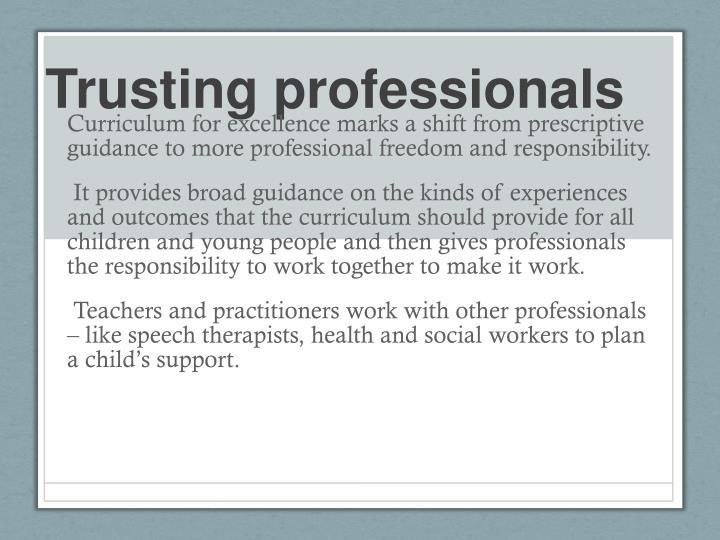 Trusting professionals
