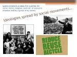 ideologies spread by social movements