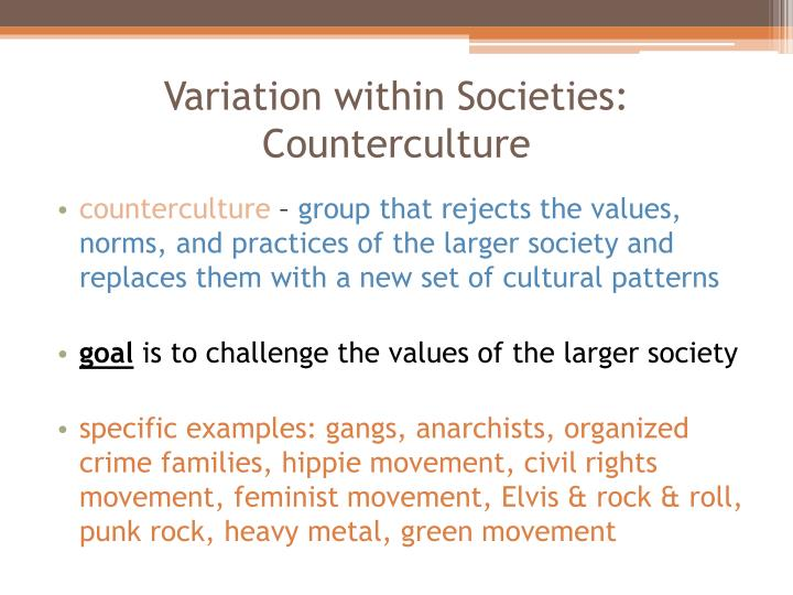 Variation within Societies: Counterculture