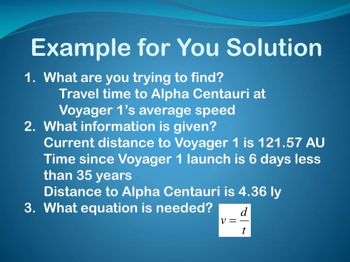 Example for You Solution