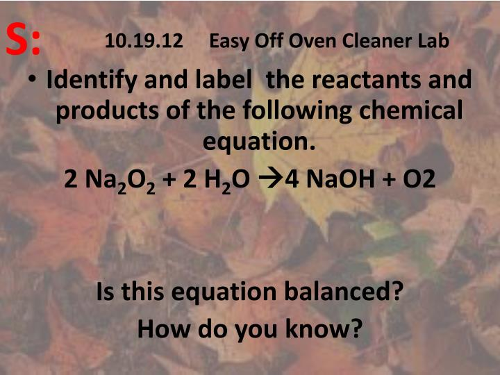 10 19 12 easy off oven cleaner lab