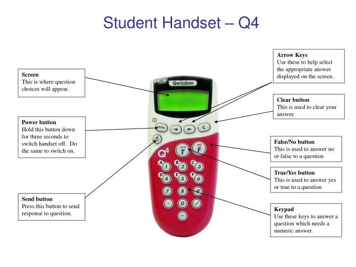 Student Handset – Q4