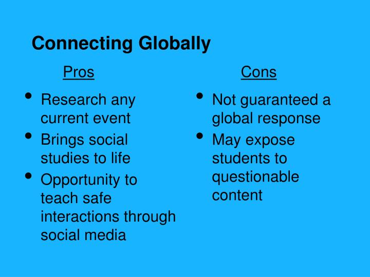 Connecting Globally