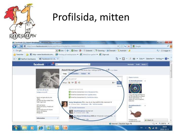 Profilsida, mitten