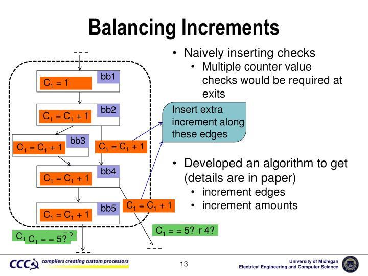 Balancing Increments