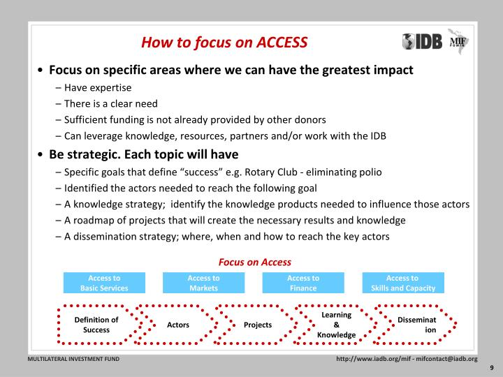 How to focus on ACCESS