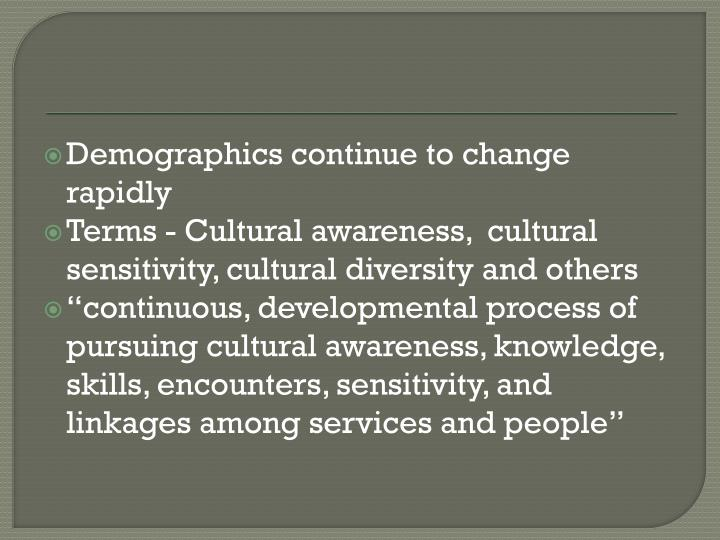 Demographics continue to change rapidly
