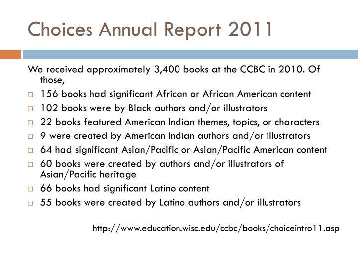 Choices Annual Report 2011