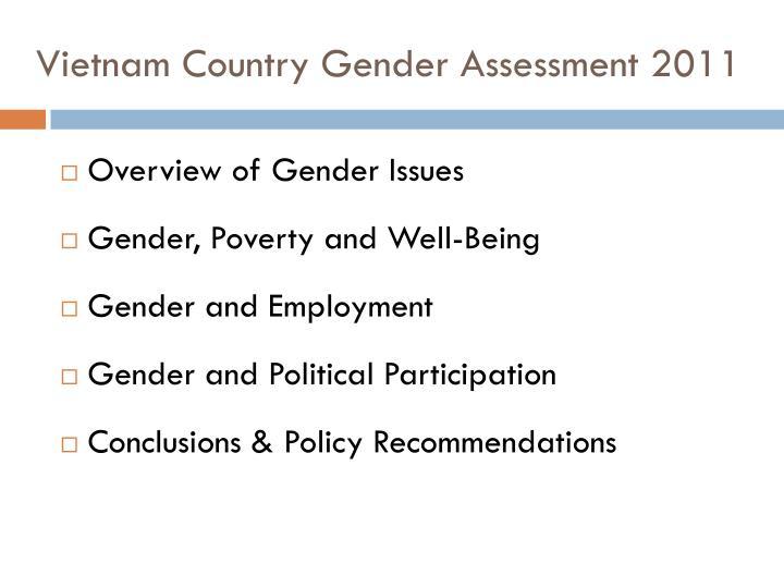 Vietnam Country Gender Assessment 2011