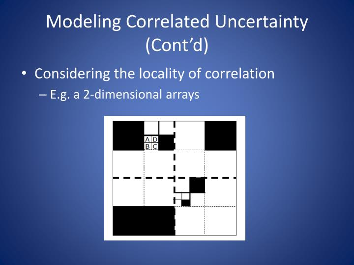 Modeling Correlated Uncertainty (Cont'd)