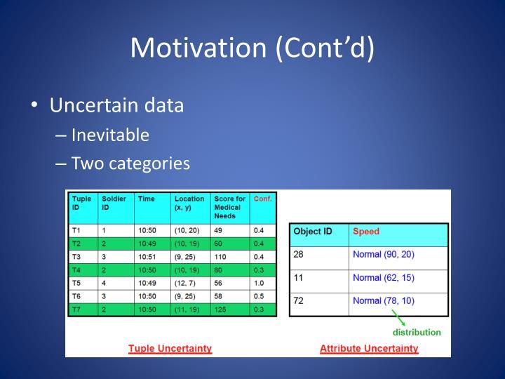 Motivation (Cont'd)