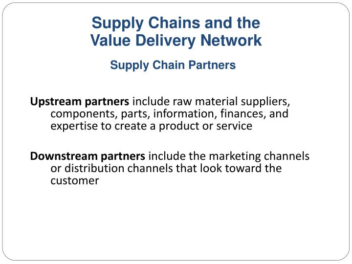 Supply Chains and the