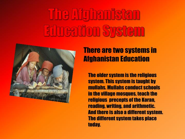 The Afghanistan Education System