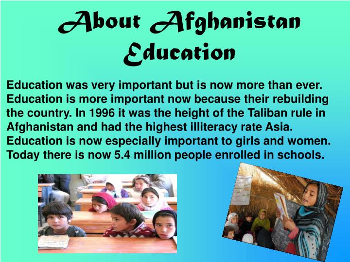 About Afghanistan Education