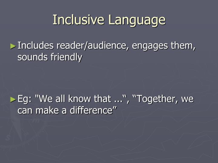 Inclusive Language