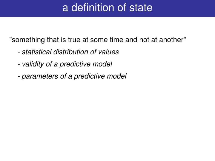 a definition of state