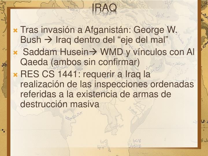 Tras invasión a Afganistán: George W. Bush