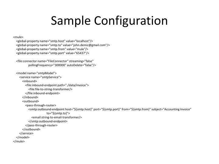 Sample Configuration