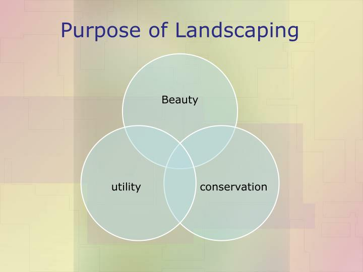 Purpose of Landscaping