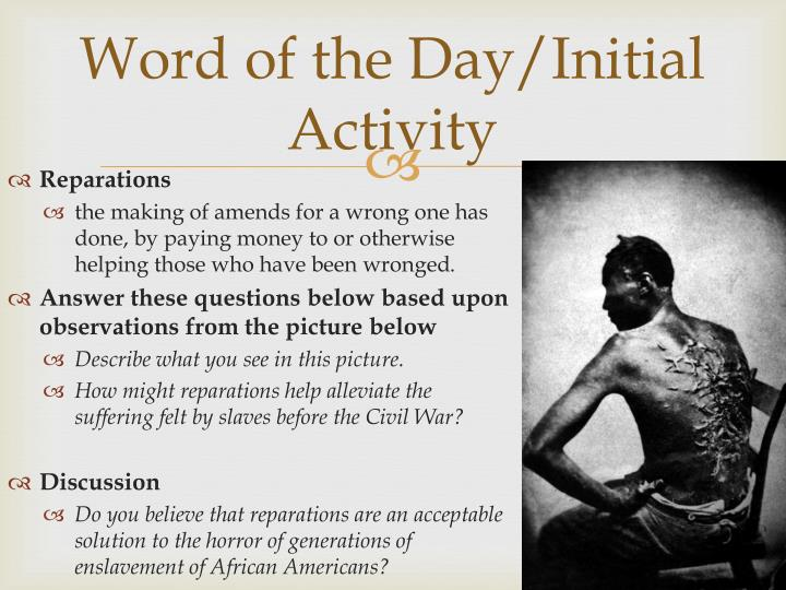 Word of the Day/Initial Activity