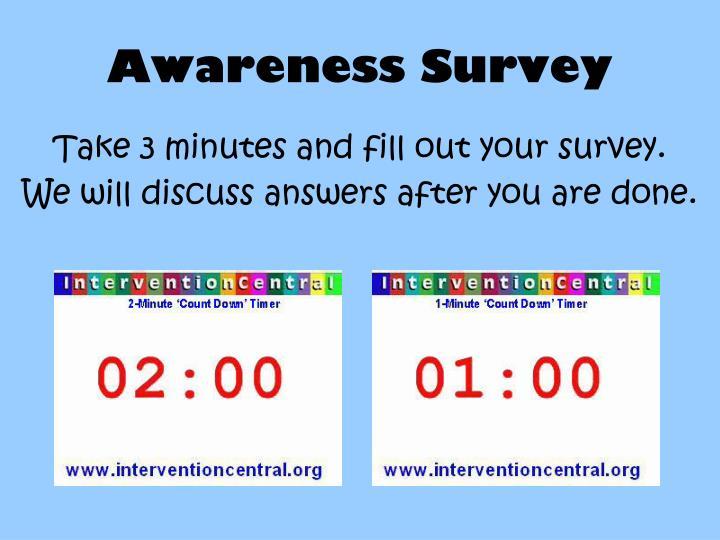 Awareness Survey