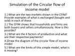 simulation of the circular flow of income model1