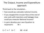 the output income and expenditure approach