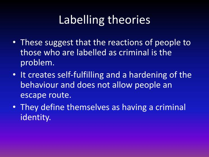 Labelling theories