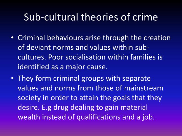 Sub-cultural theories of crime