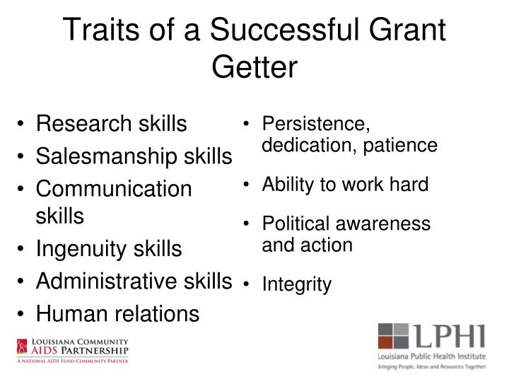 Traits of a Successful Grant Getter