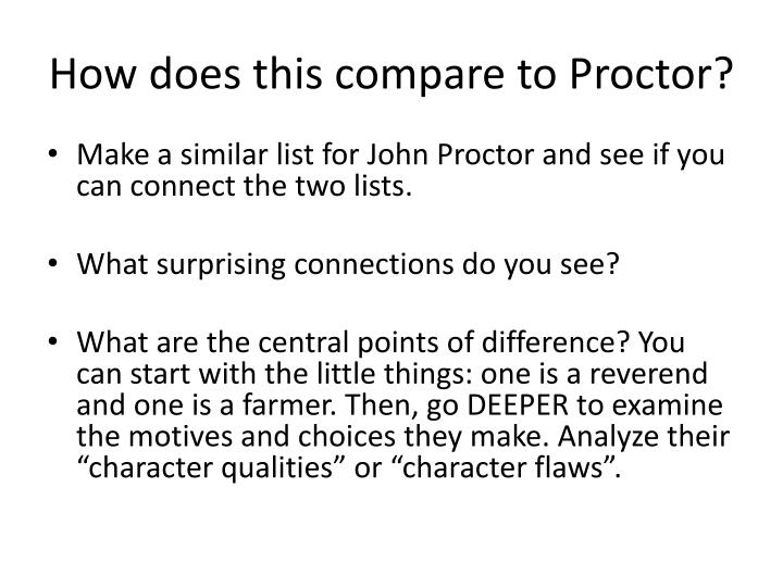 How does this compare to Proctor?