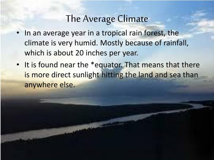 The average climate