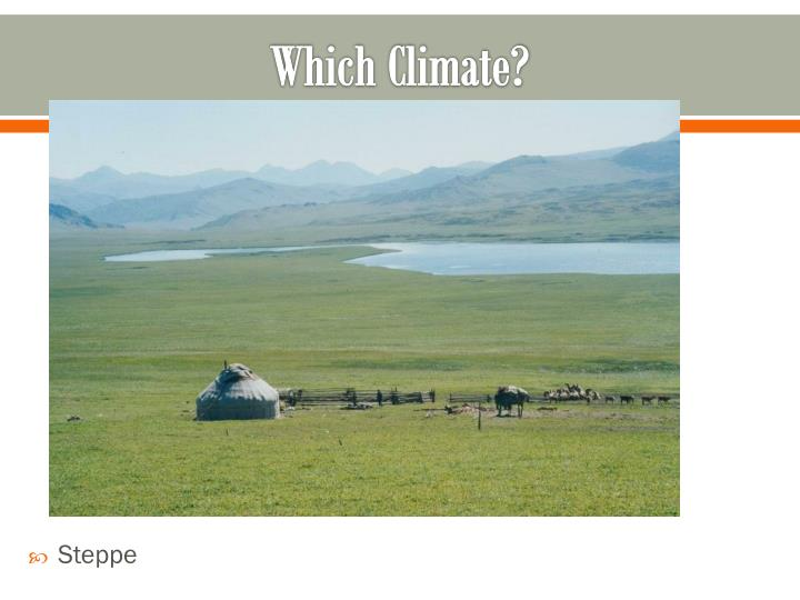 Which Climate?
