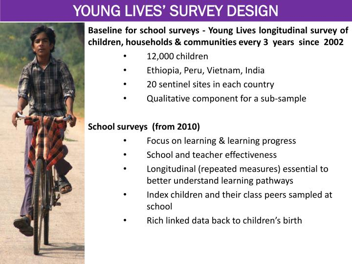 YOUNG LIVES' SURVEY DESIGN