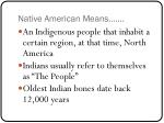 native american means