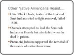 other native americans resist