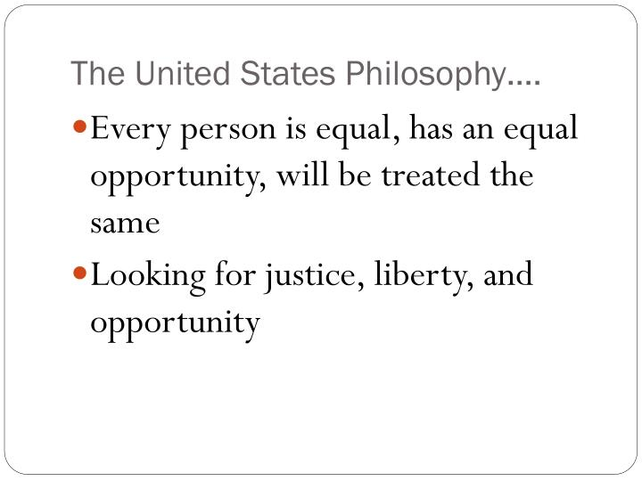 The united states philosophy