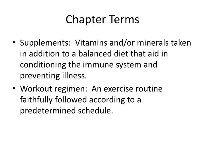 Chapter Terms