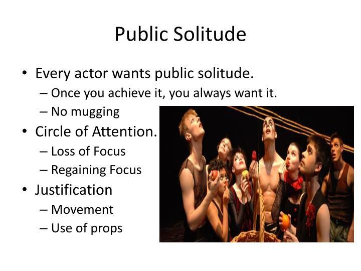 Public Solitude