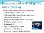 identifying and minimising risks when travelling1