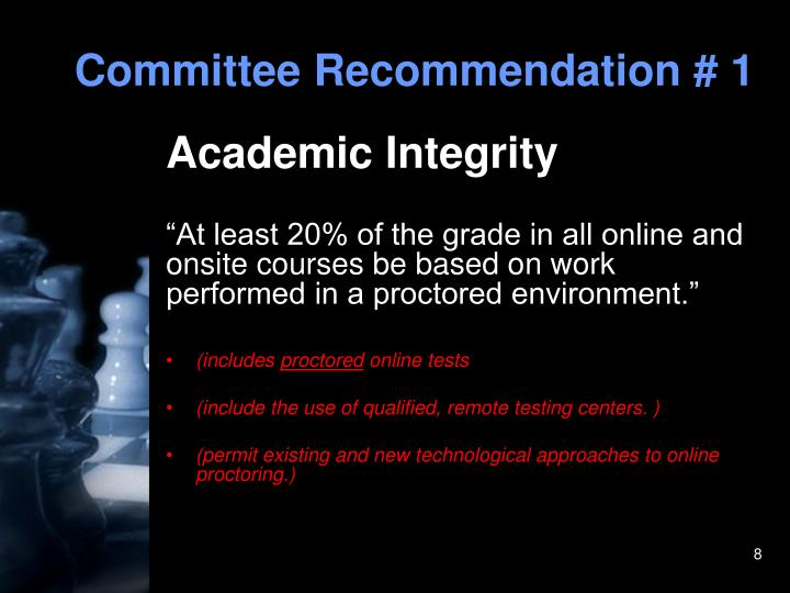 Committee Recommendation # 1