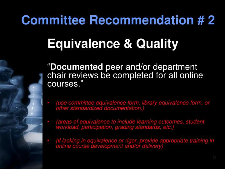 Committee Recommendation # 2