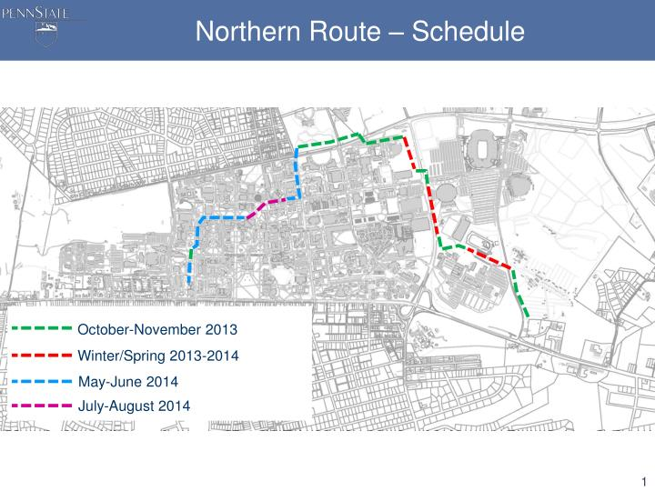 Northern route schedule