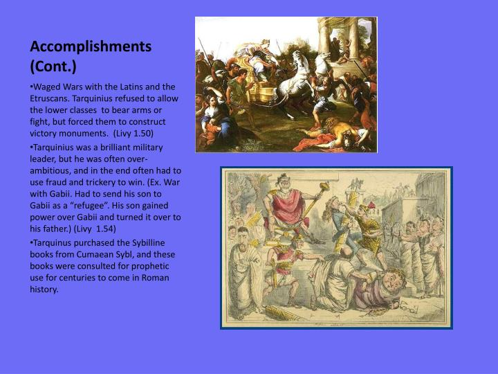 Accomplishments (Cont.)