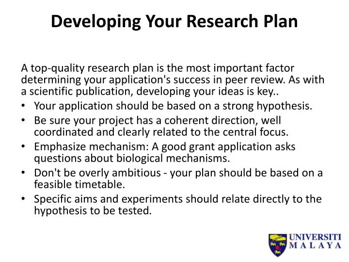 Developing Your Research Plan