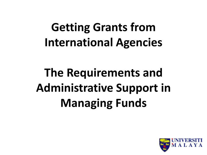 Getting Grants from