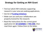 strategy for getting an nih grant1