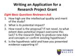 writing an application for a research project grant
