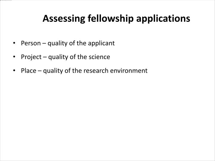 Person – quality of the applicant
